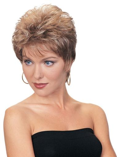 Auburn Quality Capless Wavy Synthetic Short Wigs