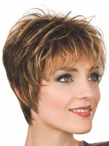 Blonde Ideal Capless Straight Synthetic Short Wigs