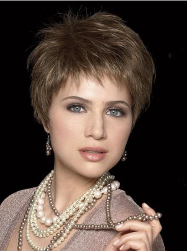 Brown Hairstyles Capless Straight Synthetic Short Wigs