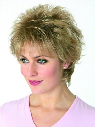 Blonde Versatility Capless Wavy Synthetic Short Wigs
