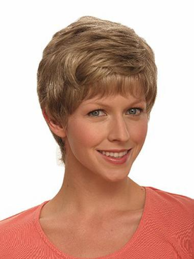 Brown Flexibility Capless Wavy Synthetic Short Wigs