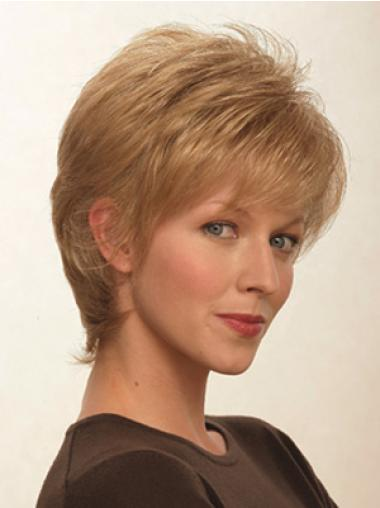Brown Beautiful Capless Straight Synthetic Short Wigs