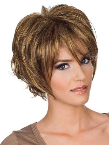 Wavy Synthetic Short Capless Blonde Beautiful Wigs