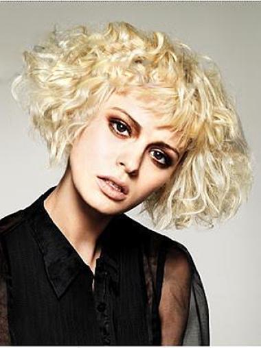 Wavy Synthetic Short Capless Blonde Modern Wigs