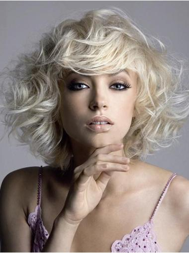 Straight Synthetic Short Capless Blonde Affordable Wigs