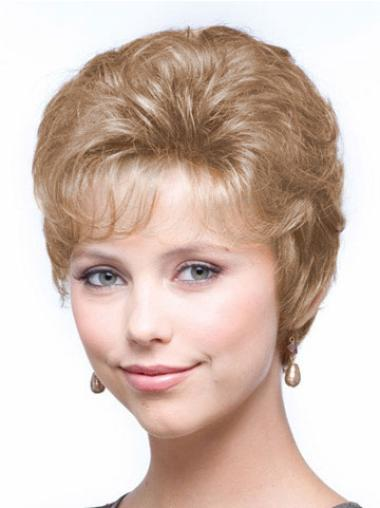Wavy Synthetic Short Capless Blonde Comfortable Wigs