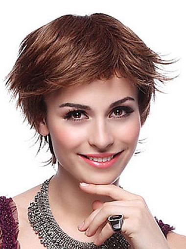 Straight Synthetic Short Capless Auburn Popular Wigs