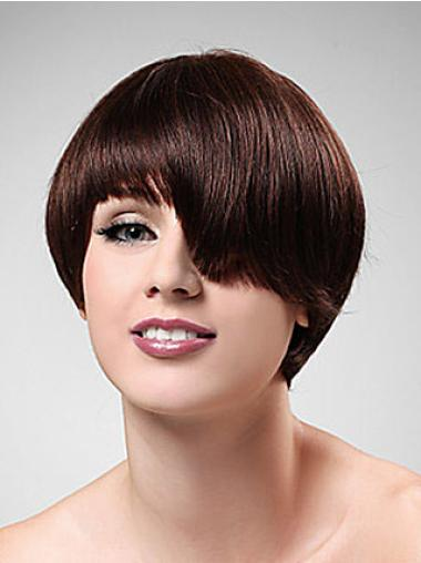Straight Synthetic Short Capless Auburn The Newest Wigs