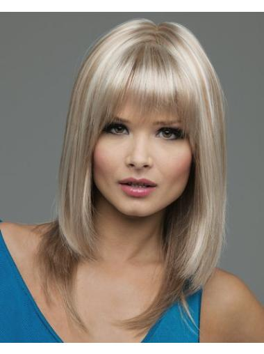Medium Straight Lace Front Blonde 2014 Wigs