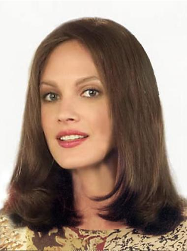 Medium Straight Lace Front Brown Best Wigs