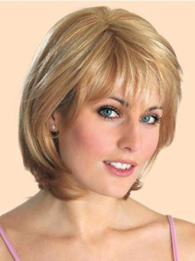 Medium Straight Lace Front Blonde Online Wigs