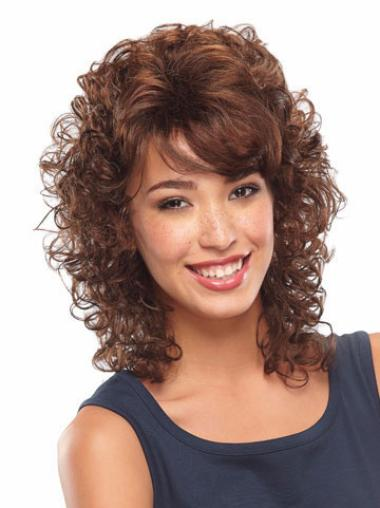 Medium Curly Lace Front Auburn Best Wigs