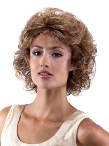 Medium Curly Lace Front Brown Hairstyles Wigs