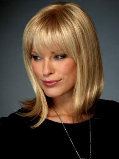 Medium Straight Lace Front Blonde Affordable Wigs