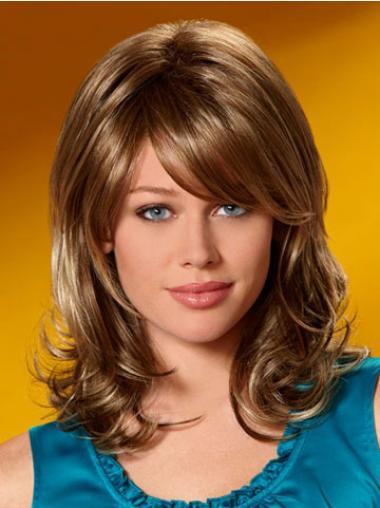 Medium Wavy Capless Brown Flexibility Wigs