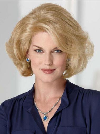 Medium Wavy Capless Blonde Soft Wigs