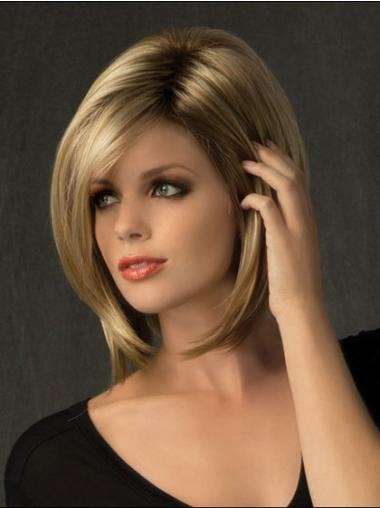 Medium Straight Capless Blonde Great Wigs