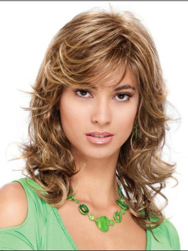 Medium Curly Capless Blonde Incredible Wigs