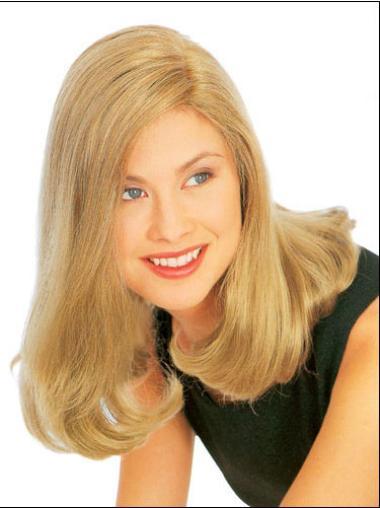 Medium Straight Capless Blonde Convenient Wigs