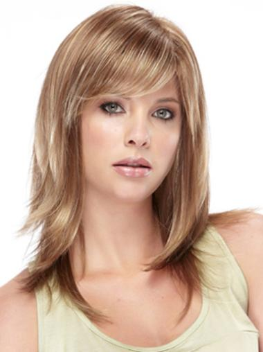 Long Straight Capless Brown Fashionable Wigs