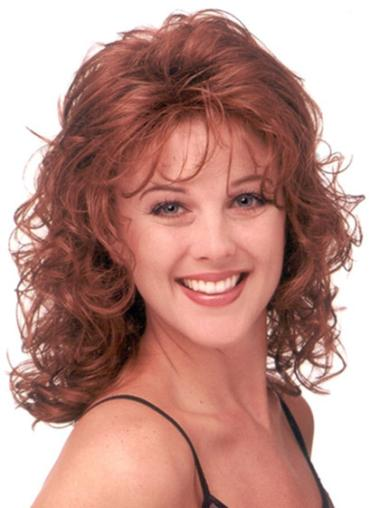 Long Curly Capless Red Popular Wigs