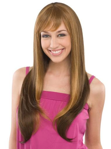 Long Straight Capless Brown Online Wigs