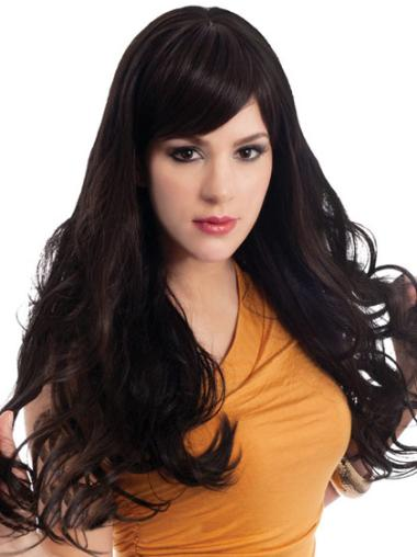 Long Wavy Lace Front Brown Best Wigs