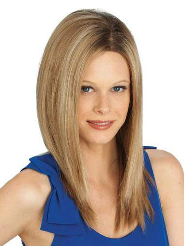 Long Straight Lace Front Blonde Hairstyles Wigs