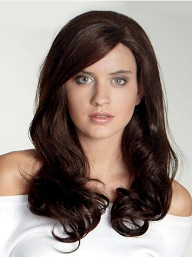 Long Wavy Lace Front Brown Stylish Wigs