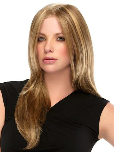 Long Straight Full Lace Blonde Flexibility Wigs