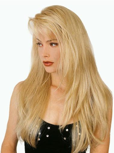 Long Straight Capless Blonde Convenient Wigs
