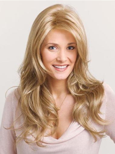 Long Wavy Capless Blonde Durable Wigs