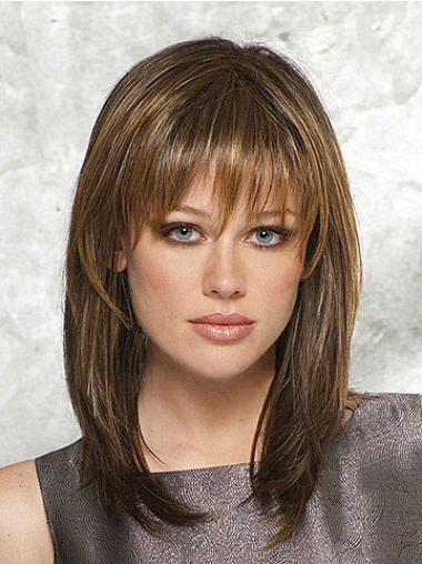 Convenient Synthetic Brown Capless Wigs
