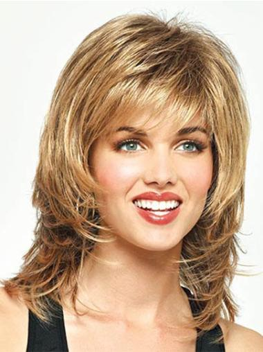 Fashionable Synthetic Blonde Capless Wigs