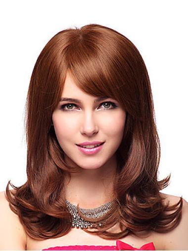 Online Synthetic Auburn Capless Wigs
