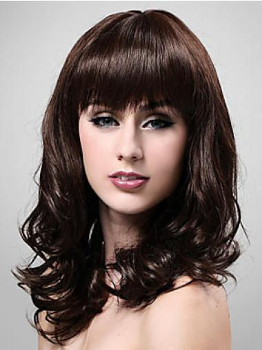 Online Synthetic Brown Capless Wigs