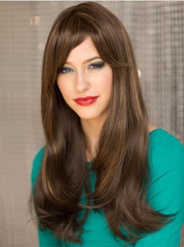 Hairstyles Remy Human Hair Brown Capless Wigs