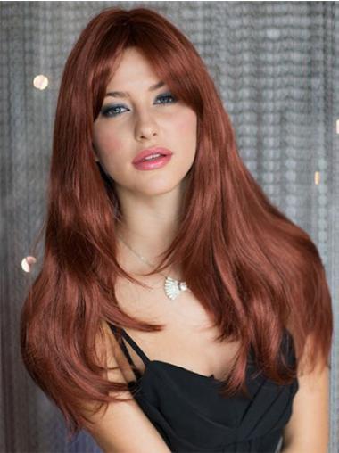 New Synthetic Auburn Capless Wigs