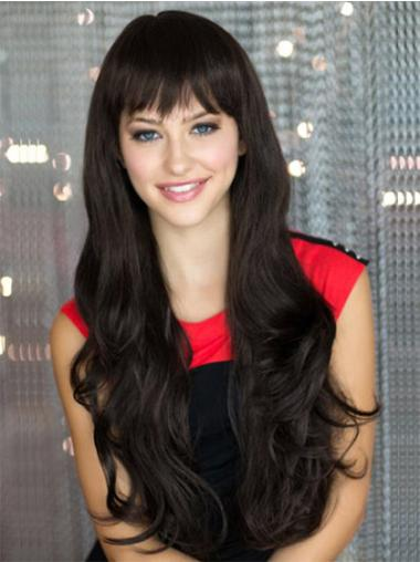 Durable Synthetic Black Capless Wigs