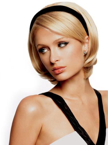 Fashionable Short Straight Capless 3/4 Wigs