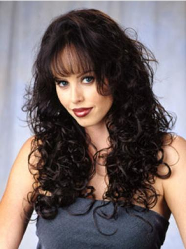 Graceful Long Curly Capless 3/4 Wigs
