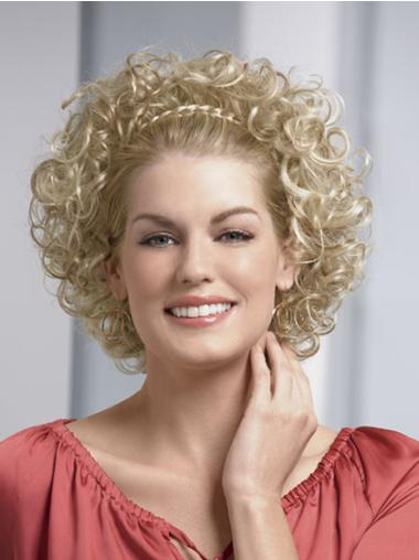 3/4 Incredible Blonde Capless Curly Wigs
