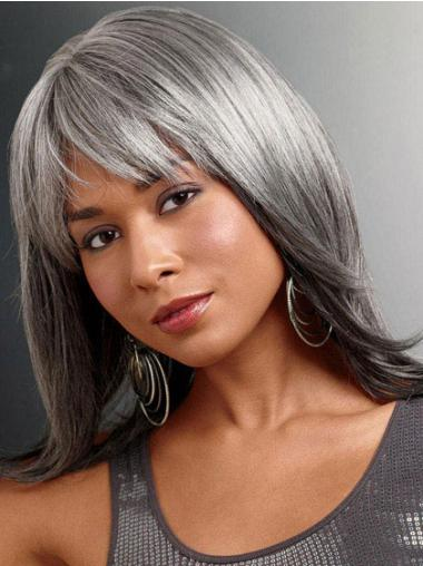 Long Straight Grey Lace Front Popular Wigs