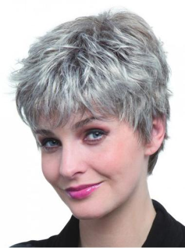 Short Straight Grey Capless Best Wigs