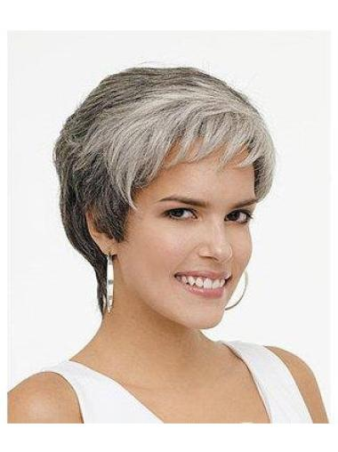 Short Wavy Grey Lace Front New Wigs