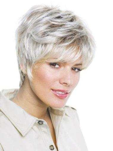 Synthetic Grey Straight Lace Front Affordable Wigs