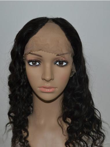 Affordable Black Curly Long U Part Wigs