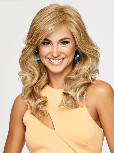 18 Inches Long Wavy Layered Synthetic Blonde Wigs
