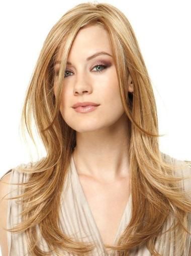 18 Inches Long Wavy Layered Synthetic Blonde Glamour Wigs