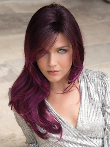 Layered Purple Capless Long Straight Best Synthetic Hair